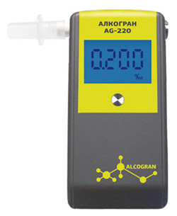 Персональный алкотестер Алкогран AG-220